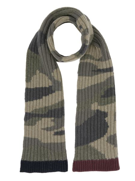 Valentino - Camouflage Print Wool Scarf