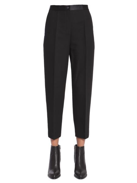 Alexander Wang - Pantalone Tuxedo Cropped In Fresco Lana