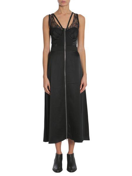 Alexander Wang - Midi Silk Dress With Lace Detail