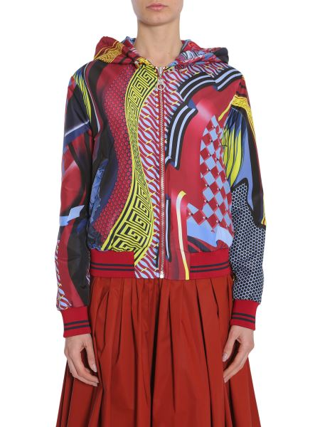 Versace - Bomber Double Face Energy Wave In Tessuto Tecnico