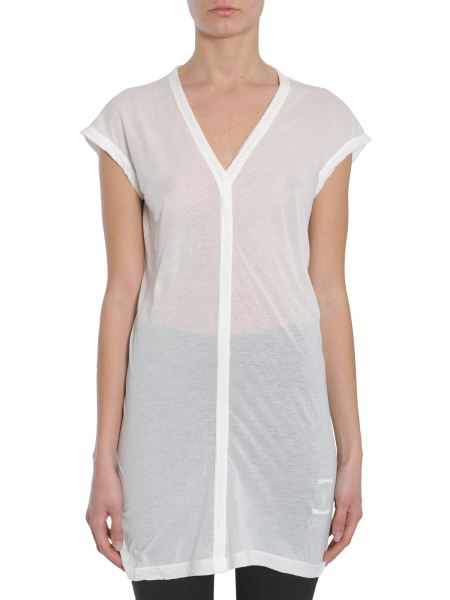 Rick Owens Drkshdw - V Collar Cotton Jersey T-shirt