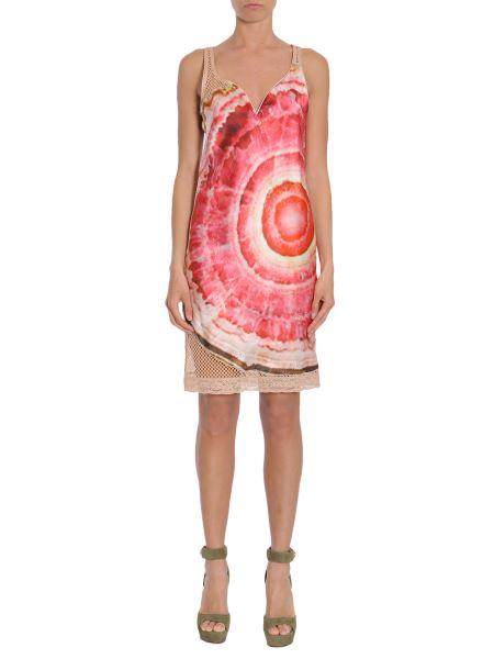 Givenchy - Printed Satin And Mesh Dress