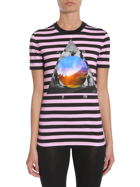 Givenchy - T-shirt A Righe Con Stampa Triangolo