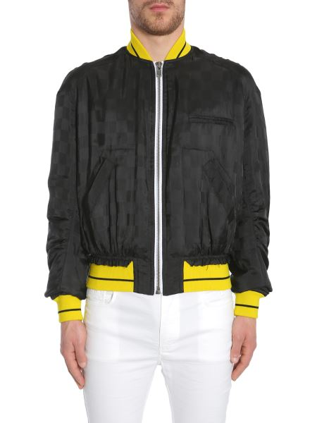 """Haider Ackermann - """"dill Black"""" Bomber Jacket With Contrasting Colour Trims"""