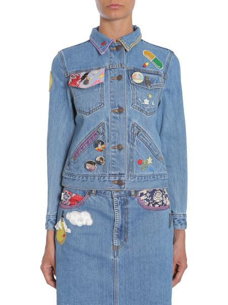 Marc Jacobs - Giacca Corta In Denim Con Ricami