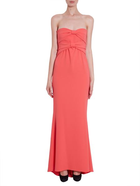 Boutique Moschino - Long Crêpe Dress With Bow