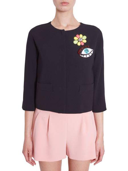 Boutique Moschino - Giacca In Crêpe Con Patch