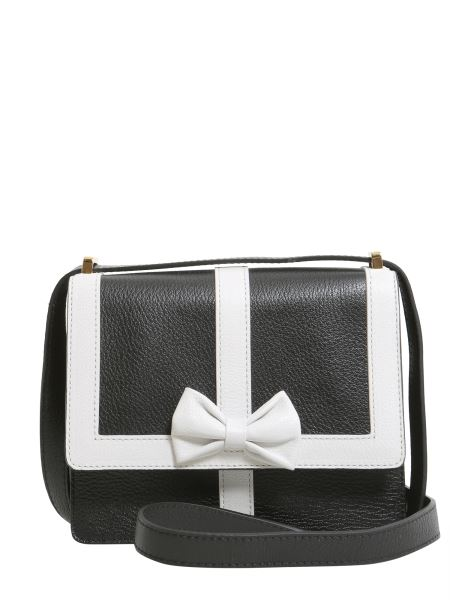 Boutique Moschino - Crossbody Leather Bag With Contrasting Colour Trim And Bow