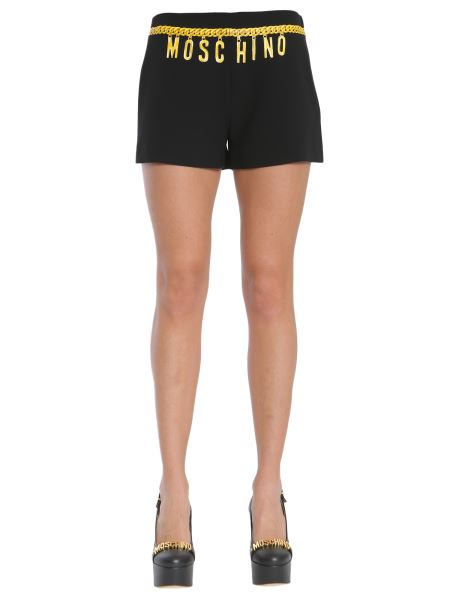 Moschino - Crêpe Shorts With Chain Print