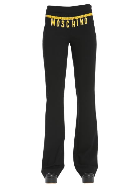 Moschino - Chain Belt Printed Trousers