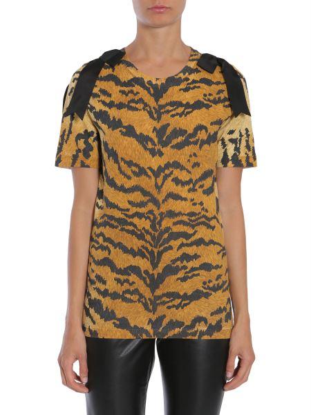 Dsquared - T-shirt Stampa Leopardata Con Fiocchi