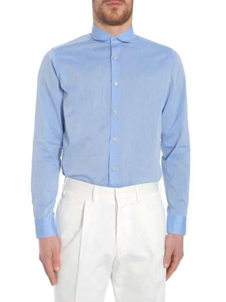 The Gigi - Vintage Club Collar Cotton Poplin Shirt