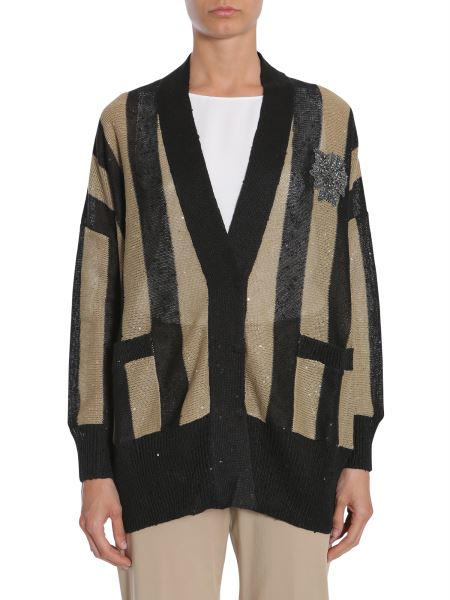 "Brunello Cucinelli - Cardigan ""cricket Stripes"""