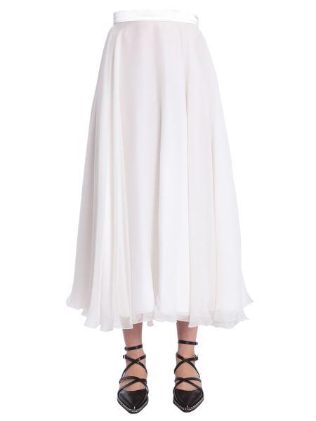 Lanvin - Long Silk Organza Skirt With Satin Waistband