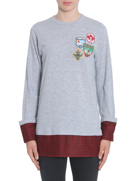 Dsquared - Cotton T-shirt With Patches And Check Detail