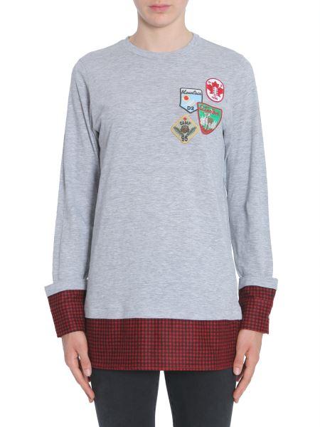 Dsquared - T-shirt Combinata In Cotone Con Patches