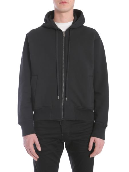 Versace - Hooded Sweatshirt With Zip With Back Boyo Print