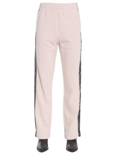 Mm6 Maison Margiela - Pantalone Jogging In Cotone Con Banda Laterale In Velluto