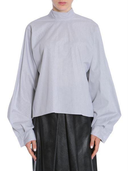 Mm6 Maison Margiela - Camicia In Popeline Di Cotone Con Fiocco Sul Retro