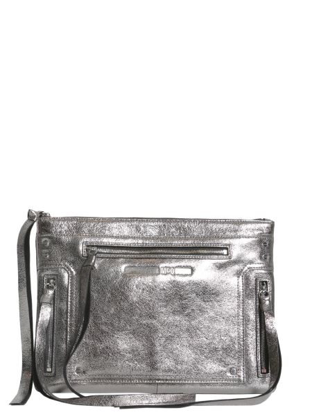 Mcq Alexander Mcqueen - Metallic Cracklè Leather Loveless Pouch