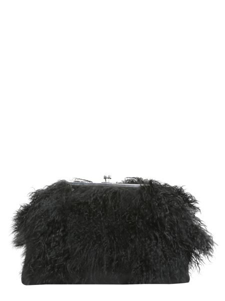 Dsquared - Clutch With Mongolian Fur Inserts