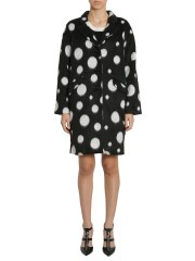 BOUTIQUE MOSCHINO - CAPPOTTO IN VELOUR A POIS