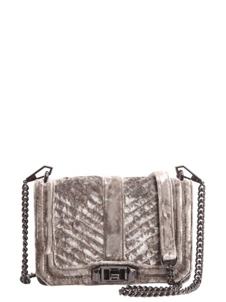 Rebecca Minkoff - Small Chevron Quilted Love Velvet Shoulder Bag