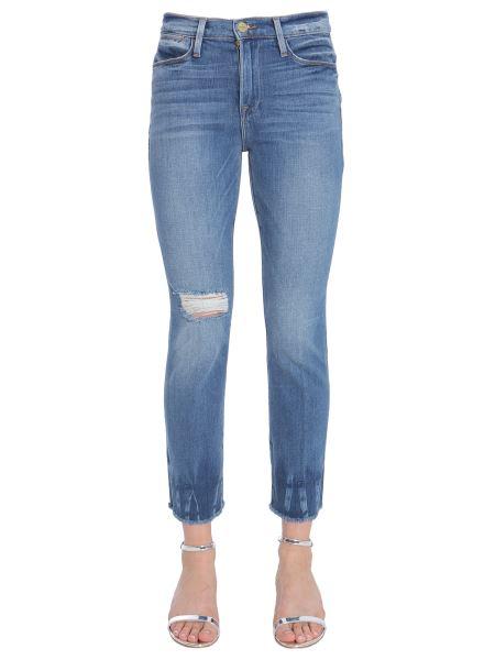 Frame - Jeans Le High Straight Con Orlo Sfrangiato