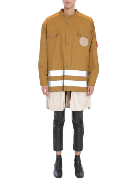 Maison Margiela - Parka With Reflective Bands And Detachable Shearling Lining