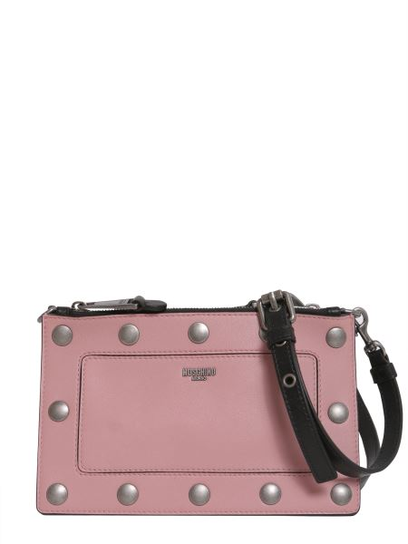 Moschino - Leather Crossbody Bag With Detachable Panel