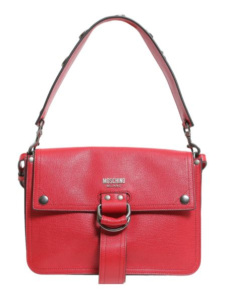 Moschino - Shoulder Bag With Double Strap In Textured Leather