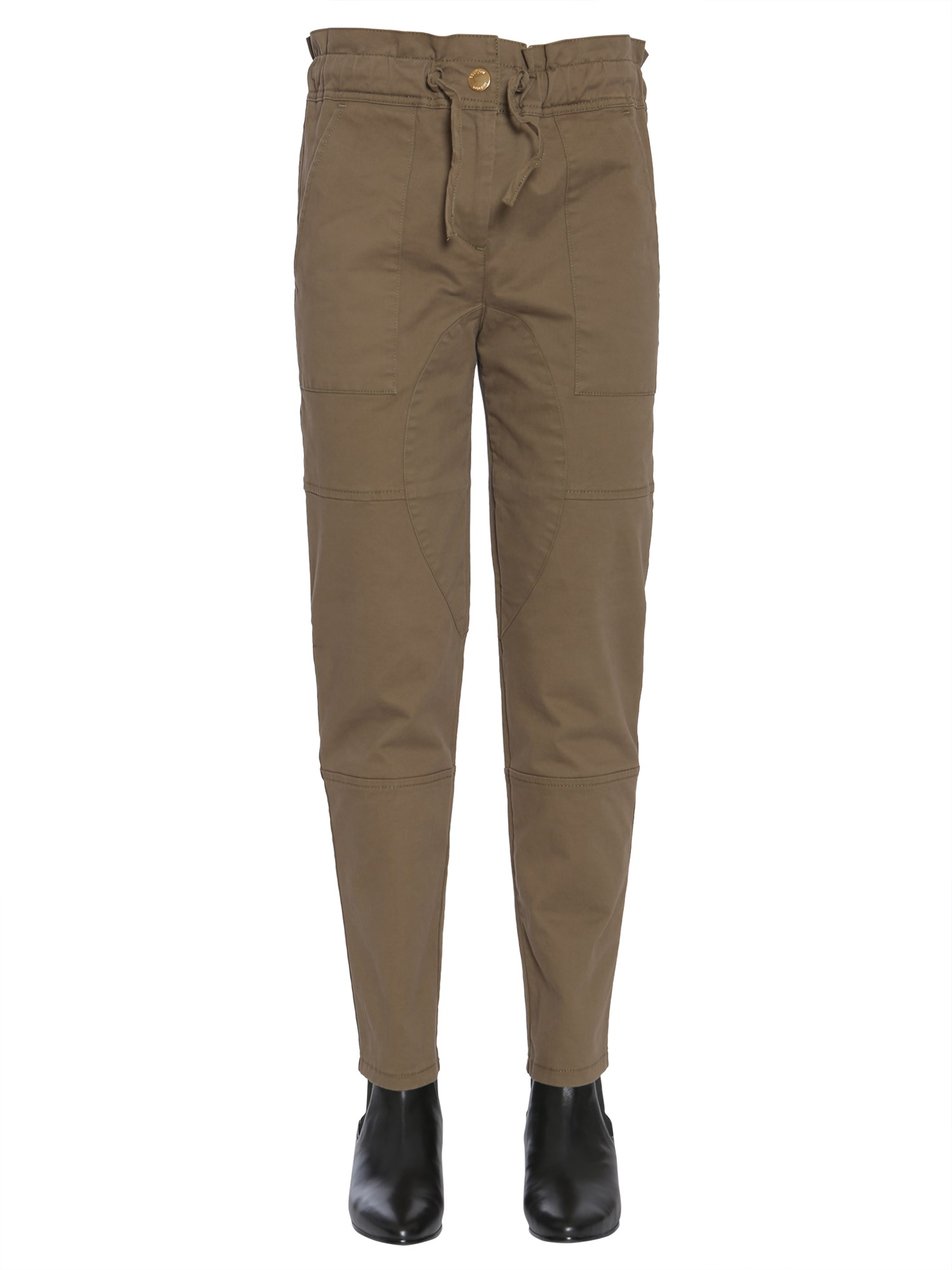Cotton gabardine trousers - boutique moschino - Modalova