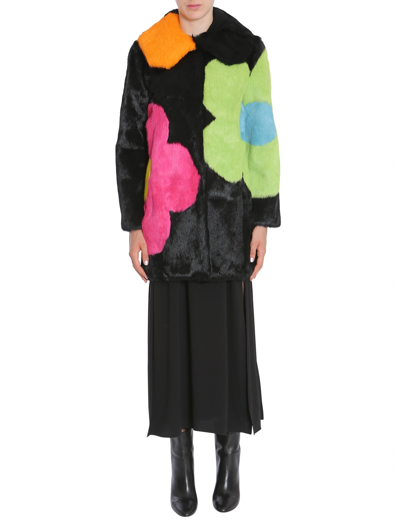 Boutique moschino long fur coat - boutique moschino - Modalova