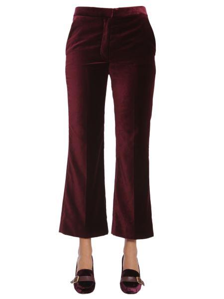 Stella Mccartney - Velvet Cropped Trousers
