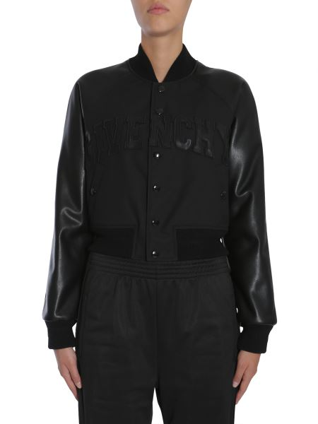"Givenchy - Bomber Jacket With ""givenchy"" Signature"