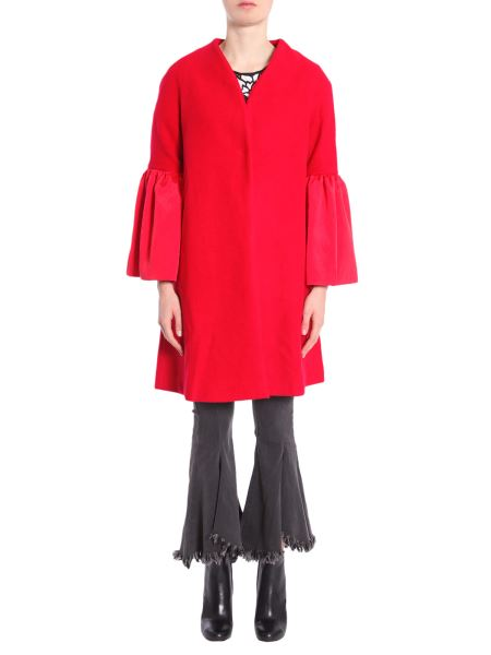 """Jovonna London - """"faye"""" Wool Blend Coat With Bell Sleeve"""
