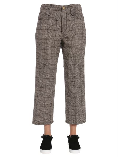 Marc Jacobs - Pantalone Cropped In Tweed Di Lana A Quadri