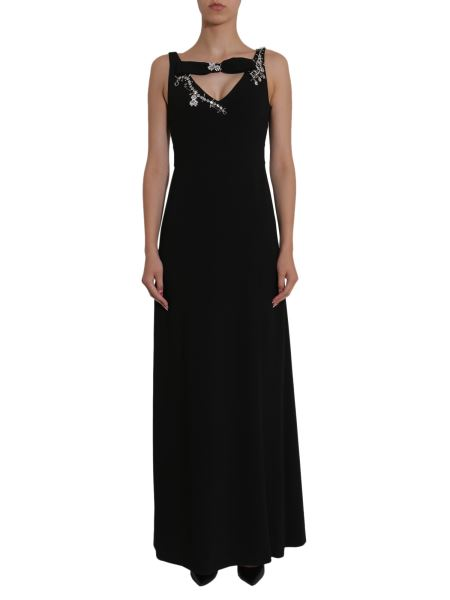 Boutique Moschino - Long Embellished Cady Dress