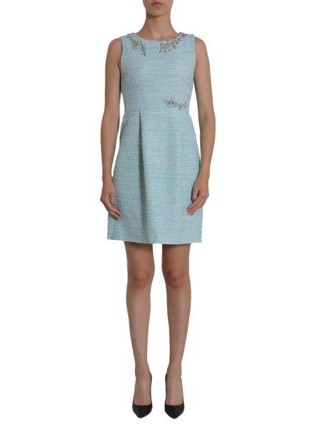 Boutique Moschino - Abito In Tweed Con Applicazioni Gioiello