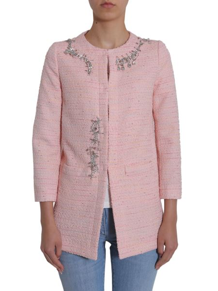 Boutique Moschino - Embellished Tweed Coat