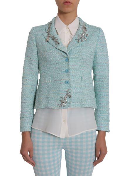 Boutique Moschino - Giacca In Tweed Con Applicazioni Gioiello