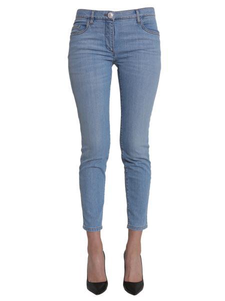 Boutique Moschino - Jeans Skinny Con Bottone A Forma Di  perla