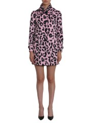 BOUTIQUE MOSCHINO - CAPPOTTO CON STAMPA LEOPARDATA