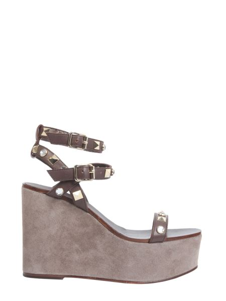 Ash - Touch Wedge Leather Sandals