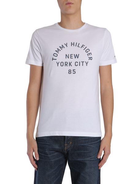 Tommy Hilfiger Menswear - T-shirt Girocollo In Cotone Organico Con Stampa Logo In Rilievo