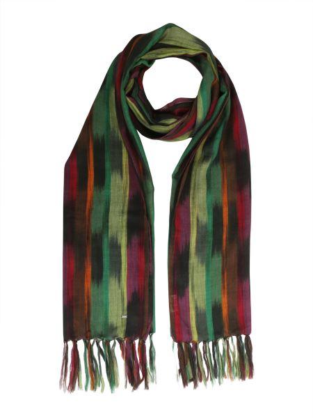 Saint Laurent - Ikat Pinceu Wool Blend Scarf