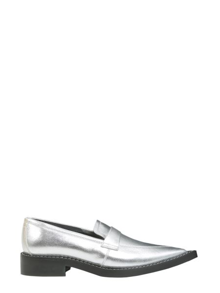 Mm6 Maison Margiela - Loafers With Pointed Toe In Metallic Leather
