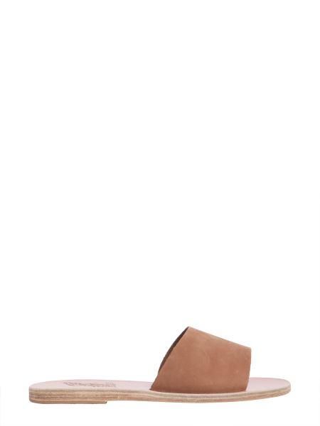 Ancient Greek Sandals - Tayagete Slide Nubuck Sandals
