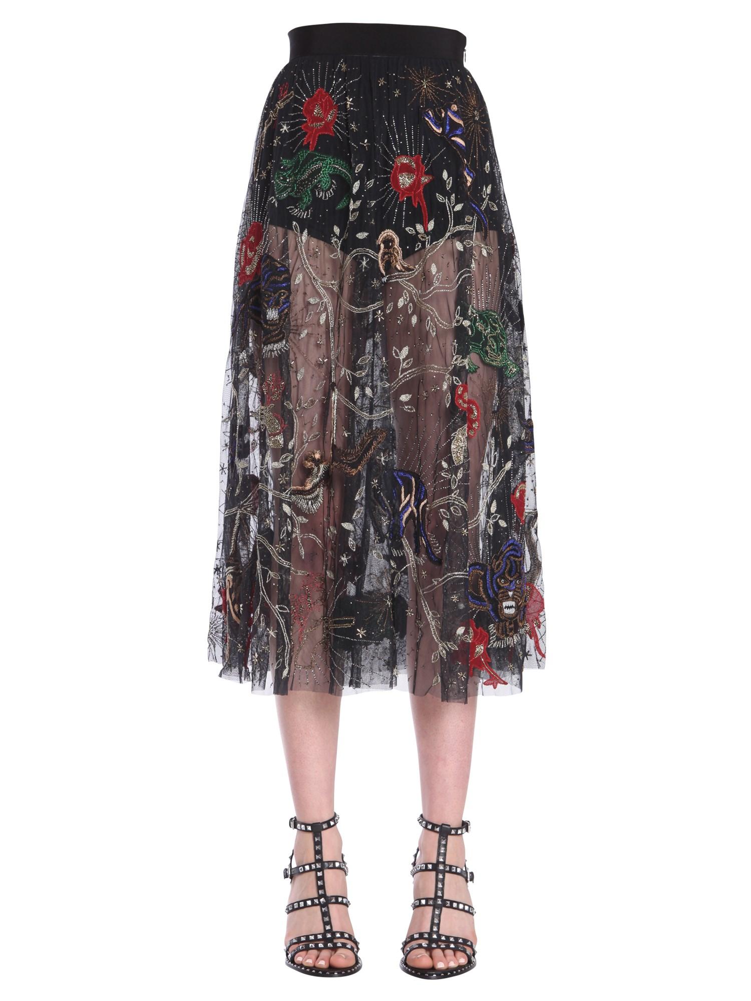 Amen embroidered skirt - amen - Modalova