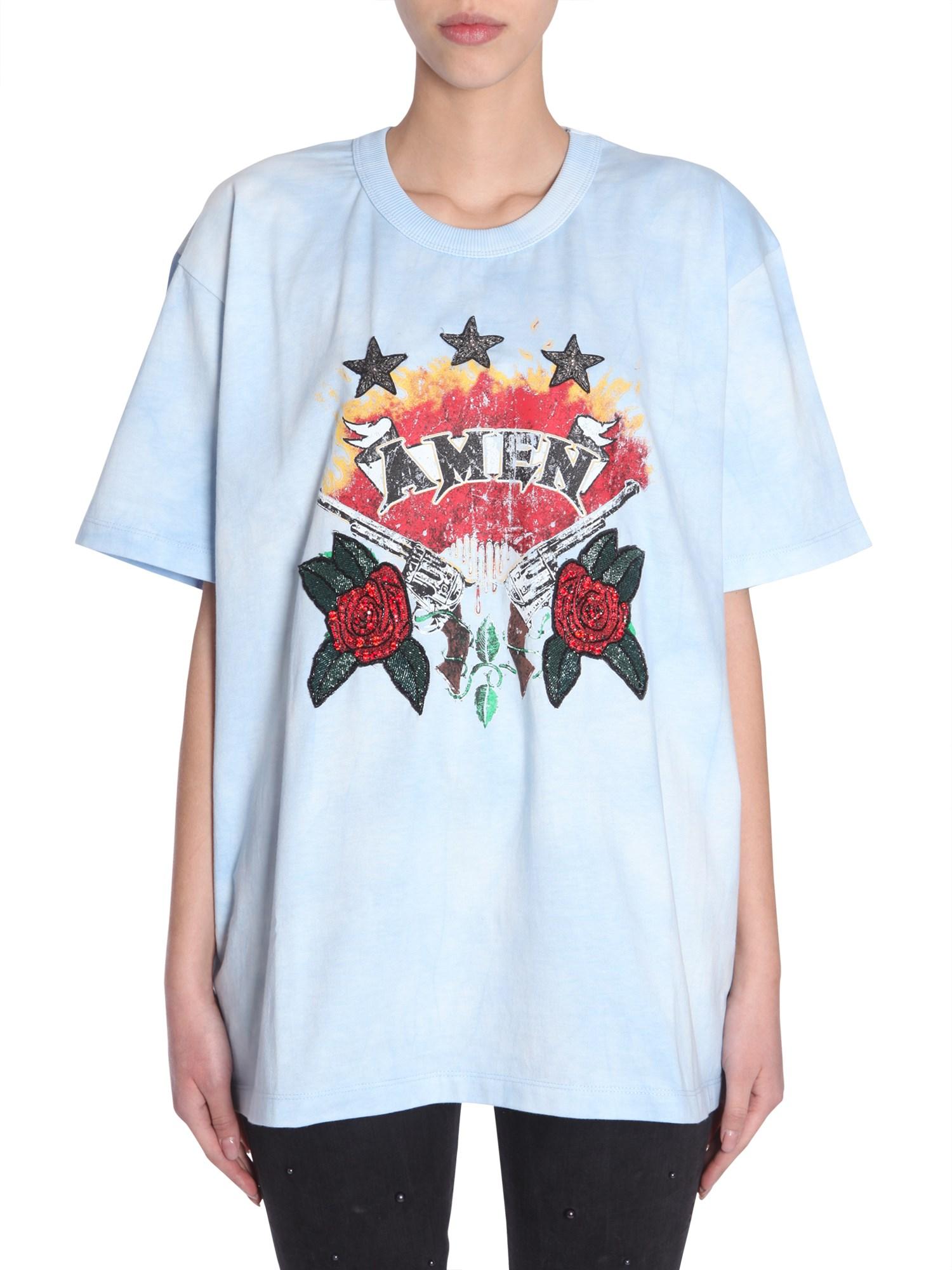 Amen oversize fit t-shirt - amen - Modalova
